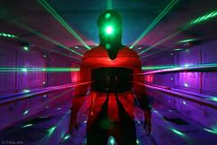 Cyclops (phill_fisher) Tags: lightpainting singleexposure longexposure nophotoshop silhouette tunnel laser nopostproduction