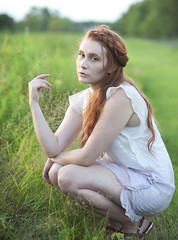 (sarajdsign) Tags: nature nyc staten island boho bohemian chic fashion braids redhair red head beauty sunset photo shoot girl white dress