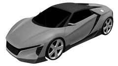 Honda ZSX ser o nome do mini NSX, de acordo com patentes (ghruffo) Tags: esportivo hbrido salodedetroit
