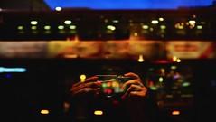 London & I. An endless love affair. (Nassia Kapa) Tags: london bus night hands fingers nassiakapa reflection window lights blur portrait londoni fuji fujifilm x100