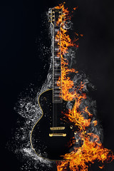 Stop burning! (MarcoKunzPhotography) Tags: nikon sigma d5100 guitar music fire water ltd esp splash