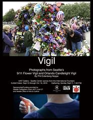 Vigil Exhibit Poster (www.phileidenbergnoppe.com) Tags: vigil orlandoshooting 911 september11 flowervigil candlelightvigil seattle seattlecenter antgallery artnotterminal artnotterminalgallery