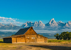 Dawn at Mormon Road Barn Grand Tetons (dharperino) Tags: jackson wy grandtetonsnp mormonroad barn iconic earlymorning gorgeous nonhdr lovemynikon800