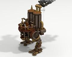 Steam stepway (funnyjelly_its_me) Tags: lego walker stepway steampunk