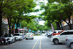 IMG_0936_1 (pavel.milkin) Tags: thailand phuket bangtao laguna phuketlaguna cars parking tree road travel canon canon550d 550d helios helioslens helios442 442 old colour endlesssummer