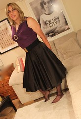 IMG_2496 (bethany_labelle) Tags: black satin circle skirt transvestite tgirl tights