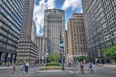 Park Avenue (JMS2) Tags: nyc manhattan newyork street bikers summerstreets skyscrapers urban fujifilm