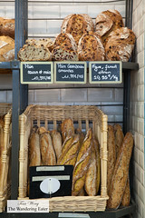 Curry baguettes, plain baguette, Fig & fennel citron bread and other artisan breads (thewanderingeater) Tags: gontrancherrier patisserie boulangerie bakery ruecaulaincourt montmartre