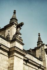 Gargoyle (B. Gohacki) Tags: jerez spain gothic architecture gargoyle espana jerezdelafrontera pentax k1 k1processed spooky religious cathedrals europe
