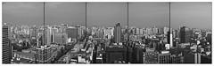 PAISAJE / Hacia el Sur con Polucin (ORANGUTANO / Aldo Fontana) Tags: chile reginmetropolitana santiagodechile centro downtown ciudad city buildings edificios panorama pano blancoynegro blackandwhite bw nikon nikond200 aldofontana orangutano flickr