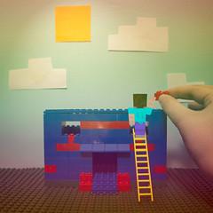 Steve's Lego House (Karissa Selby) Tags: minecraft legos lego house polaroid