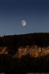 This is the end of the summer (Ludtz) Tags: canon ludtz canoneos5dmkiii 5dmkiii ef300|4lis moon moonrise leverdelune lune sky ciel salve hautesavoie 74 alpes alps mountain montagne blue bleu