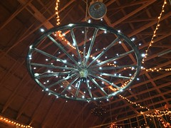 Barn Party (@prison nurse) Tags: brownbottle party wood shiny flyoverstate country wagonwheel lights barn imperfect366 september kansas bonnersprings barnparty
