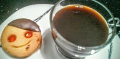 Smile & coffee (jgbarah) Tags: coffee smile cookie