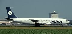 B707 | YR-ABC | AMS | 19910706 (Wally.H) Tags: boeing 707 boeing707 b707 yrabc ams eham tarom amsterdam schiphol airport romania rot b7073k1c
