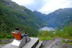 The Queen's Chair (laurengolder) Tags: honeymoon norway geirangerfjord geiranger
