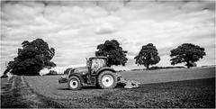 Stainton  . (wayman2011) Tags: fujifilmx100 lightroom wayman2011 bwlandscapes mono farming farmmachinery tractors trees rural countryside pennines dales teesdale stainton countydurham uk