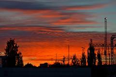 The beauty of the sky... (random shot). Sunset. Finland (L.Lahtinen (off for two weeks)) Tags: finland autumn evening nikond3200 nikkor maisema kaupunki auringonlasku suomi beauty goodnight ilta larissadatsha magic colorful light magical amazing fire