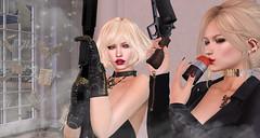 kick ass (prettynontan) Tags: secondlife sl catwa belleza maitreya sac sr25 weapon war cats grenade ro rapture gp37 gun fight kiss