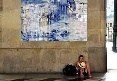 Art Railway Station (csaba.lehel) Tags: art railway station porto portugal azulejo blue girl