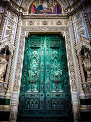 Florence (StefanCosta) Tags: florence architecture art italy brunelleschi door sculpture colours sun holy