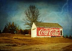 Drink Coke (keeva999) Tags: texture abandoned rural countryside nikon farm country rustic iowa d3200 boccacino memoriesbook darkwood67 flypapertextures