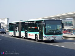 MAN Lion's City GL A23 RATP n°4951 (Pi Eye) Tags: city man paris bus autobus iledefrance ratp roissy cdg gl a23 parisien stif gelenk roissybus articulé vertjade lionscitylions glions