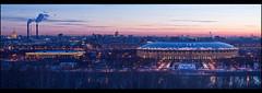Moscow. City at dawn. (Yuri Degtyarev) Tags: city lens dawn stadium moscow sony tripod soviet m42 pro alpha filters ussr 442 582 slik москва cokin nex город biotar стадион luzhniki рассвет лужники helios442 gnd8 p121s гелиос м42 nexc3