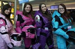 halo girls (HugaHayley) Tags: pink blue girls purple halo armor wondercon2013