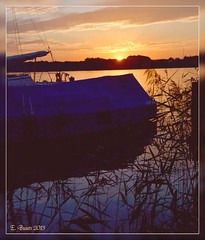 Einkehr (Niemann-Buuts (back again)) Tags: camping sunset lake water boats northerngermany