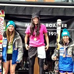 Panorama Spring Series, Stephanie Gartner 2nd U18, Charley Field 3rd U18 in GS #2 PHOTO CREDIT: Gregor Druzina