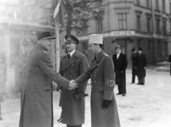 Quisling i Skien. 1942/03/06. (Riksarkivet (National Archives of Norway)) Tags: ns worldwarii secondworldwar quisling krigen vidkunquisling andreverdenskrig okkupasjonstiden