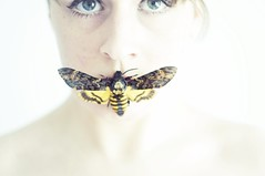 (Sofi Anne) Tags: girl self moth taxidermy sofi silenceofthelambs deathsheadhawkmoth