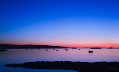 Peaceful (_Ruby Huang_) Tags: ocean city pink blue houses light sunset sky urban mountain canada english beach home night vancouver landscape 50mm lights bay boat spring nikon rocks downtown peace yacht britishcolumbia ngc zen silky refection d800