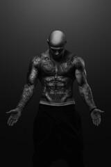 GeeGun  (FullClip) Tags: blackandwhite bw musician music beautiful tattoo studio skin body muscle works hiphop jules rap bnw skinhead geegun