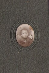 Very young African American boy- cabinet card (912greens) Tags: kids portraits children serious hats africanamericans 1900s strawhats cabinetcards folksidontknow