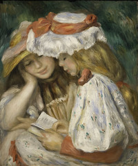 Two Girls Reading (mark6mauno) Tags: county girls two art museum painting reading losangeles los nikon angeles canvas oil nikkor lacma renoir d4 105mmf28dmicro pierreauguste nikond4