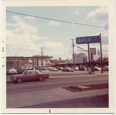 ARCO gas station, April 1973 (STUDIOZ7) Tags: city urban cars automotive atlantic gasstation oil 70s service gasoline 1970s seventies arco petroleum richfield tradingstamps shgreenstamps petroliana