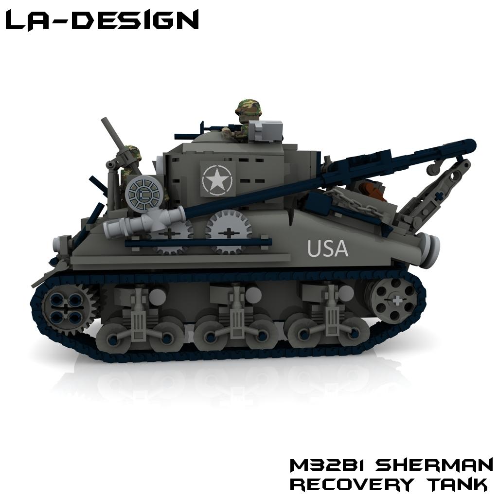 how to build a lego ww2 sherman tank