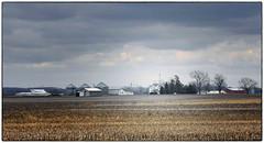 Illinois (Images by Walter Lesus) Tags: color home clouds barn landscape illinois corn farm farmland