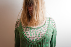 (evilibby) Tags: green hair hidden hide blonde messyhair libby 365 hiding mybedroom hemma 365days 3656 365days6
