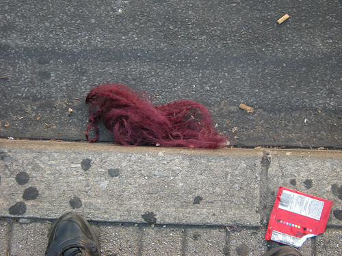 Red Tumbleweave on 69th Street