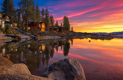 Lake Tahoe (mojo2u) Tags: california sunset lake nevada laketahoe zephyrcove nikon2470mm nikond800