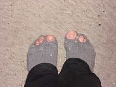 my sock is worn :( (lasseman92) Tags: broken socks big sock toe hole bad holes holy terrible worn torn cry trasig hobo hollow ragged tattered holey hål tå strumpa straff strumphål utslitna