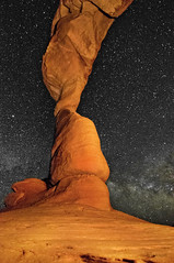 The Delicate Arch (Collin R Erickson) Tags: park light painting way stars utah arch arches national moab delicate milky collinerickson cerickson