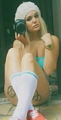 HE!!o (anaisthemermaid) Tags: me girl tattoo ink gold watch piercing tattoos casio blonde cleavage piercings septum inked