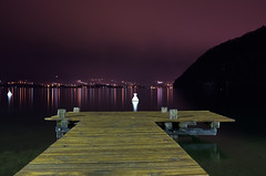 night in Talloires (Vsevolod Vlasenko) Tags: lake france annecy water night pier fujifilm nightphoto talloires hautesavoie x100 fujifilmx100