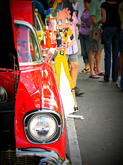 Classic Car Show (Cocoapotamus) Tags: classiccar drivein wilmington bettyboop
