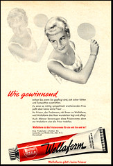 Wellaform (Harald Haefker) Tags: promotion vintage magazine ads print advertising pub publicidad reclame ad frisur retro anuncio advertisement nostalgia german 1950s advert 1957 werbung publicit magazin reklame affiche publicitario pubblicit rclame frisiercreme wellaform pubblicizzazione