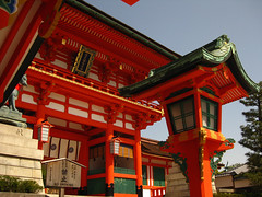 (-Michik-) Tags: red japan temple japanese kyoto inari   kyouto   jinja taisha fushimi